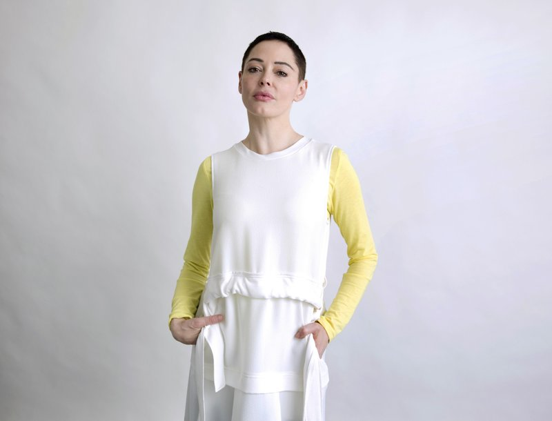 Rose McGowan poses for a portrait in New York on Wednesday, January 31, 2018. Photo: AP