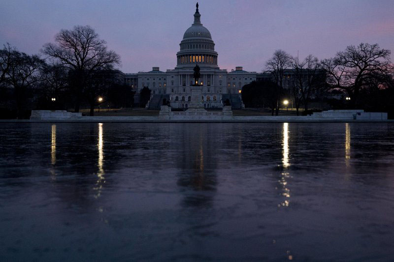 The Capitol Dome of the Capitol Building at sunrise, Friday, Feb. 9, 2018, in Washington. The Senate is ready for a showdown debate over immigration, including whether to protect young u0093Dreamersu0094 from deportation, in an election-year battle thatu0092s sure to electrify both partiesu0092 most fervent voters and could well end in stalemate. Photo: AP