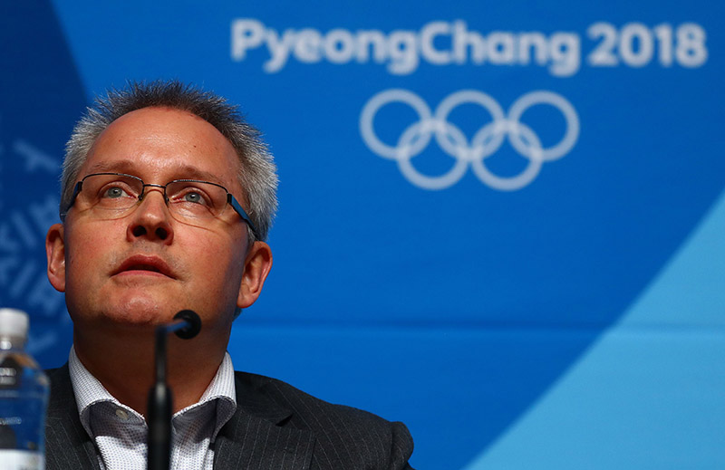 Matthieu Reeb, Secretary General of the Court of Arbitration for Sport speaks during a news conference in Pyeongchang, South Korea, on February 1, 2018. Photo: Reuters
