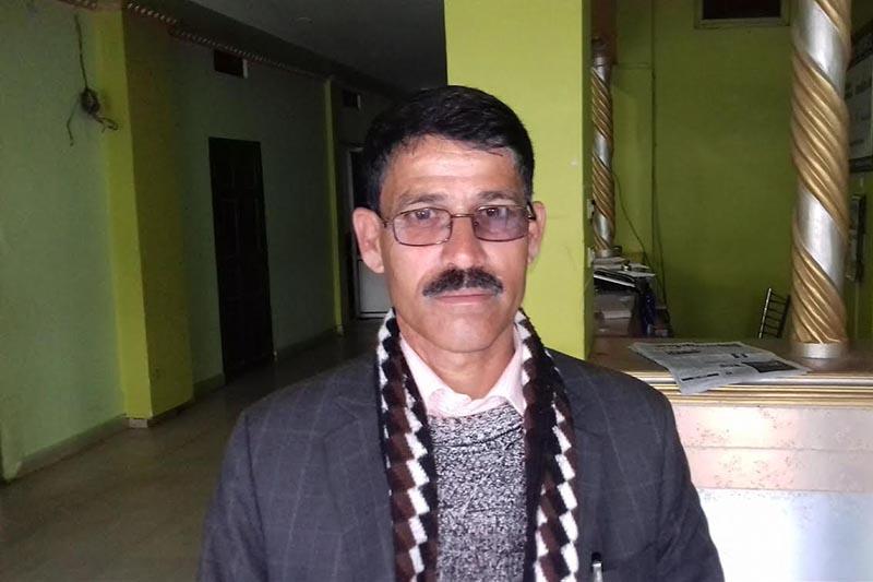 CPN-Maoist Centre leader Trilochan Bhatta. Photo: THT