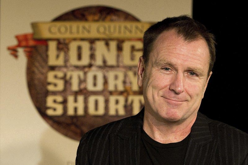 File - Colin Quinn discusses u0093Long Story Short,u0094 his one-man theatrical show moving to Broadway, at a news conference in New York, on Oct. 12, 2010. Photo: AP