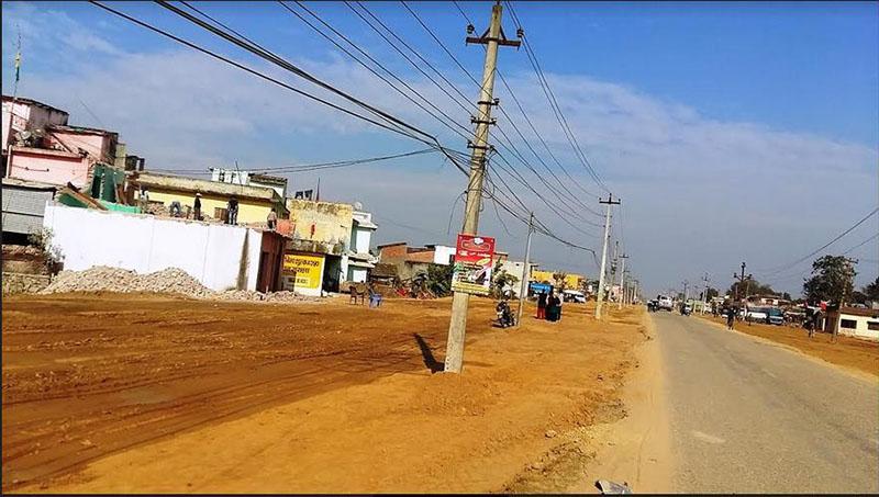 The Dhangadhi-Attariya six lane road section, on Wednesday, February 21, 2018. Photo: Tekendra Deuba