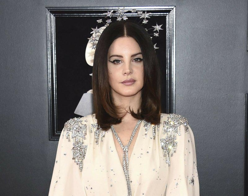 File - Lana Del Rey arrives at the 60th annual Grammy Awards in New York, on Jan. 28, 2018. Photo: AP