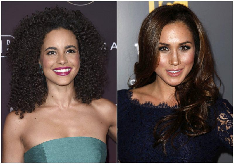 File - In this combination photo, actress Parisa Fitz-Henley attends the 5th annual People Magazine u0093Ones To Watchu0094 party on Oct. 4, 2017, in Los Angeles, left, and actress Meghan Markle attends the USA Network and The Mothu0092s u0093A More Perfect Union: Stories of Prejudice and Poweru0094 event in West Hollywood, Calif. on Feb. 15, 2012. Photo: AP