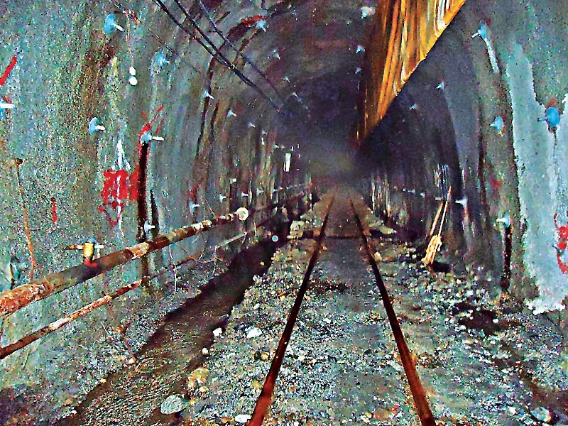 File photo of Melamchi Drinking Water project tunnel.