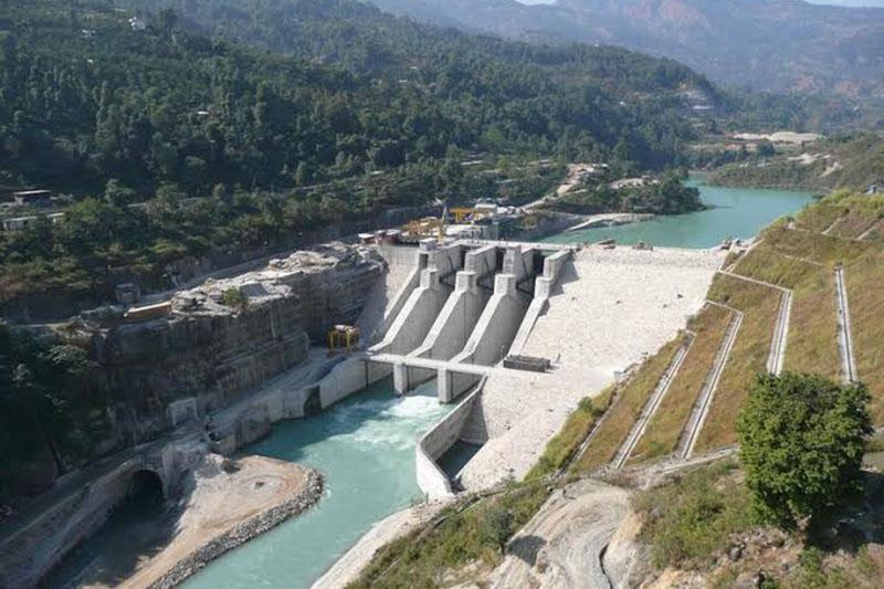 A view of the Middle Marsyangdi Hydropower Station, at Lamjung, on Sunday, February 18, 2018. Photo: Ramji Rana