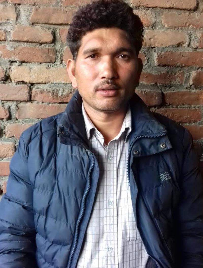 Resham Rokka of Panchkhal Municipality-6 in Kavre, imprisoned for 18 days on a rape and a murder case. Photo: THT