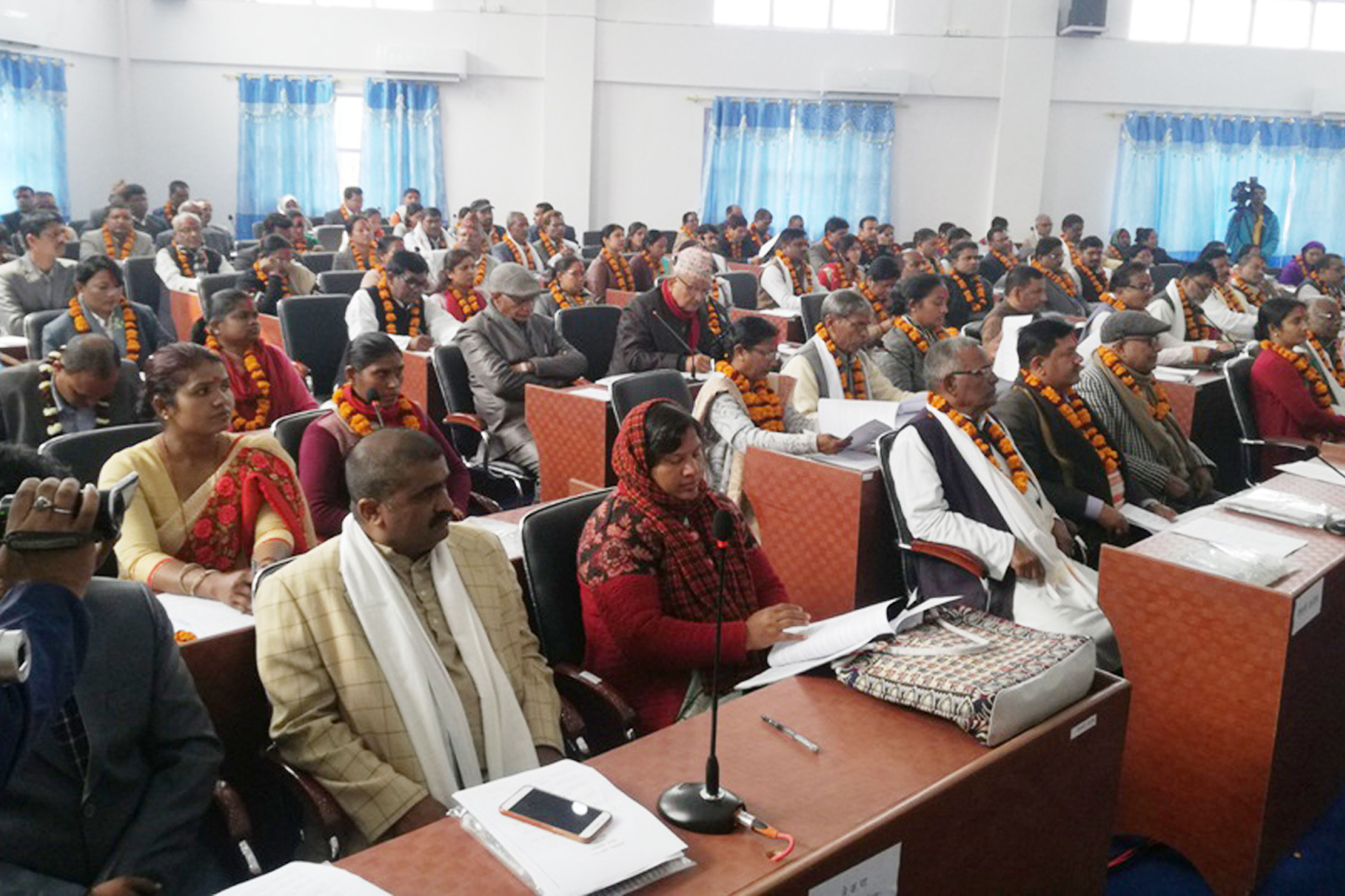 House members attending First Provincial Assembly meeting of Province 2. The meeting concluded with unanimous endorsement of Province Assembly Interim Procedure, 2074. Photo: Ajay Kumar Shah/RSS
