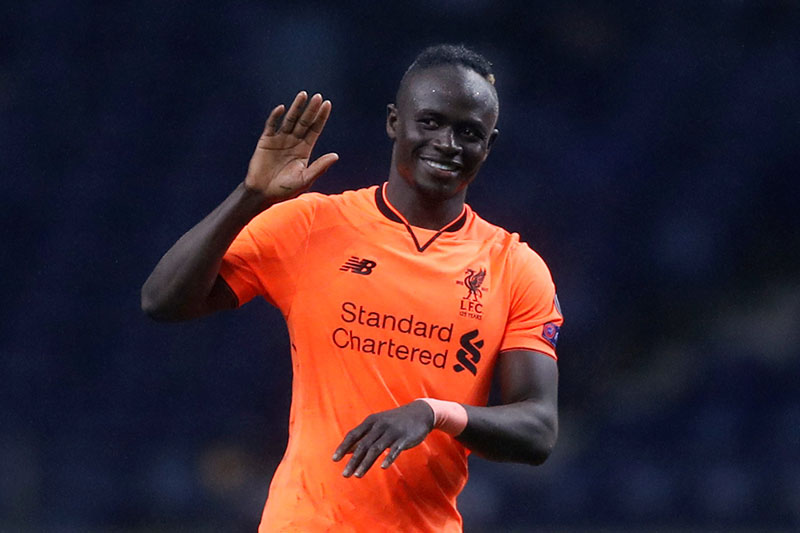 Liverpool's Sadio Mane celebrates at the end of the match. Photo: Reuters