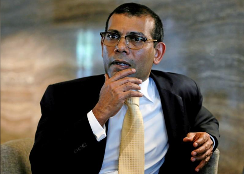 FILE-Maldives former president Mohamed Nasheed speaks during an interview with Reuters in Colombo, Sri Lanka March 29, 2017. Photo: Reuters