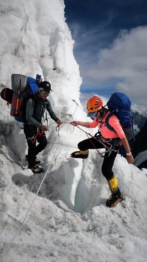 In this undated photo, climbers are seen ascending a mountain. Photo: Purnima Shrestha/File