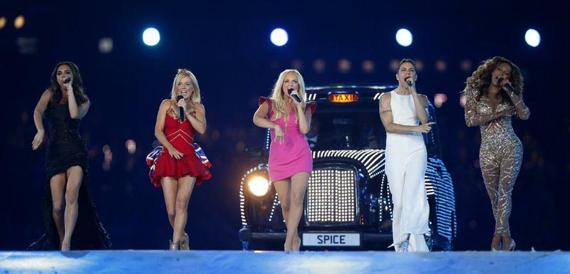 File - British band u0091The Spice Girlsu0092 perform during the Closing Ceremony at the 2012 Summer Olympics, in London, on Sunday, Aug. 12, 2012. Photo: AP