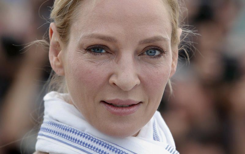 File - Actress Uma Thurman poses for photographers during the photo call for the Un Certain Regard jury at the 70th international film festival, Cannes, southern France, on  May 18, 2017. Photo: AP