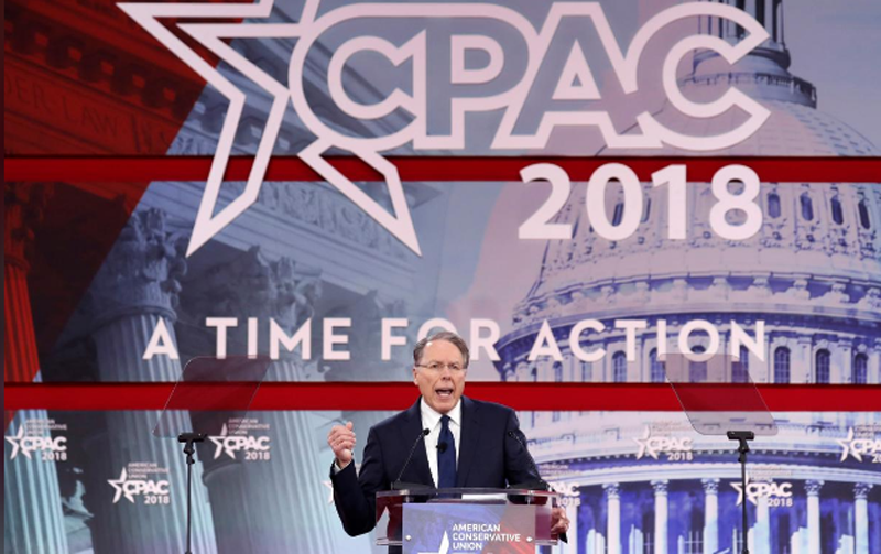 NRA Executive Vice President and CEO Wayne LaPierre speaks at the Conservative Political Action Conference (CPAC) at National Harbor, Maryland, US, February 22, 2018. Photo: Reuters