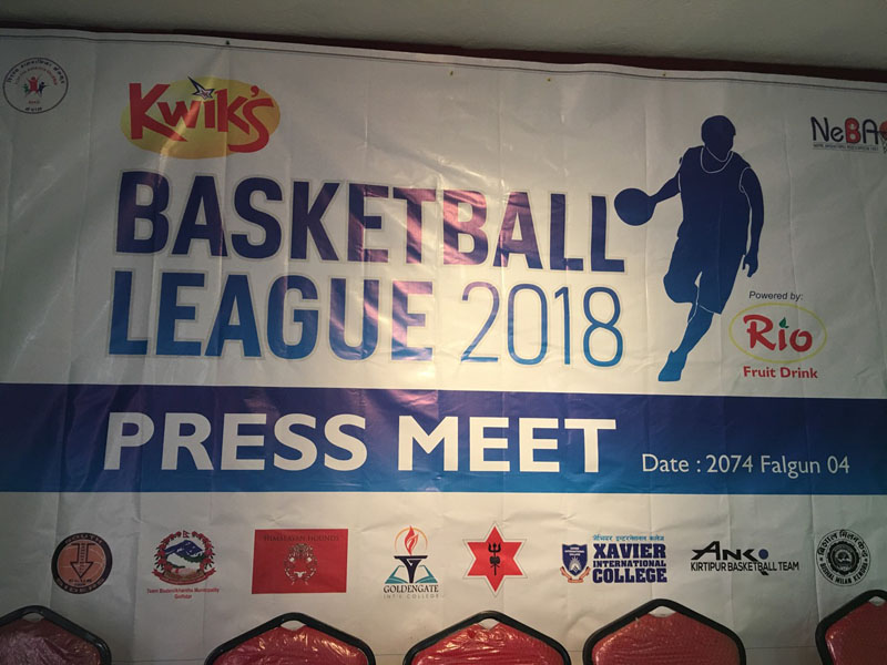 Basketball League 2018 Press Relase held on Friday in Tripureshwor. Photo: Sushant Chandra Thakuri