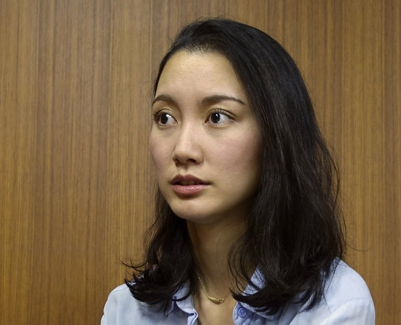 File - Shiori Ito, a journalist, who says was raped by a prominent TV newsman in 2015, talks about her ordeal and the need for more awareness and support for the victims in Japan, during an interview in Tokyo on Oct. 27, 2017. Photo: AP