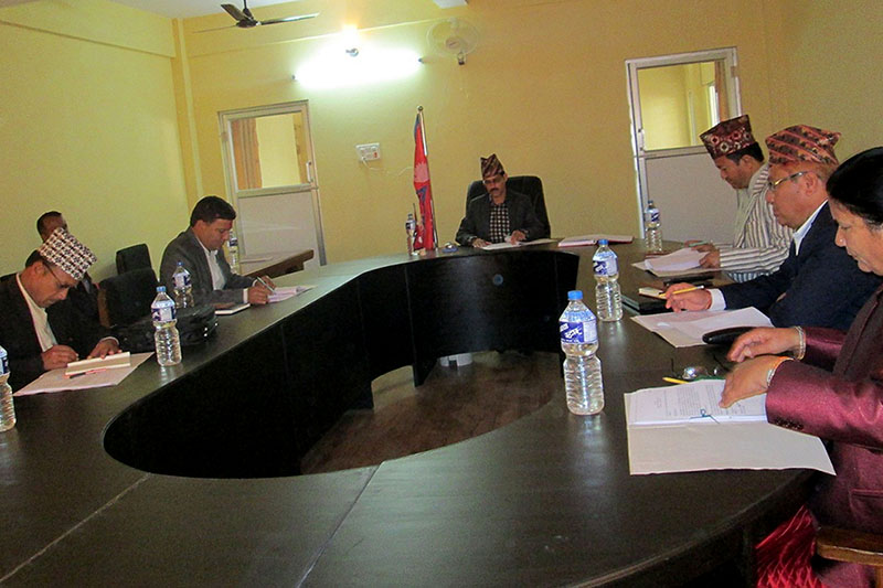 A meeting of Council of Ministers of province 7 being held in Dhangadhi, on Wednesday, February 28, 2018. Photo: RSS