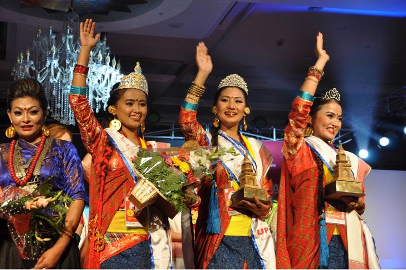 Winners of Miss Tamang, 2018. Photo: RSS