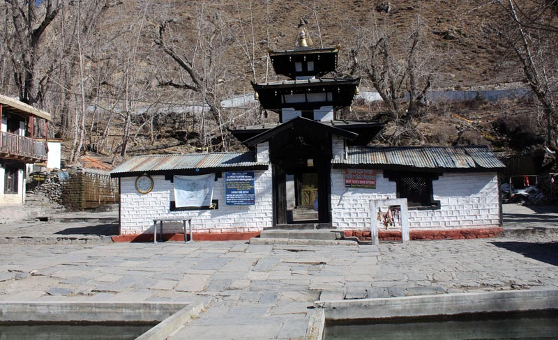 View of sacred temple located in Muktinath Valley Rural Municipality-9 of Mustang district, on March 8, 2018. Photo : RSS