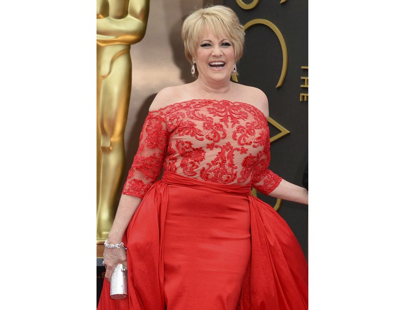 Lorna Luft at the Oscars in Los Angeles. Singer Luft, the daughter of Judy Garland, collapsed backstage after a concert in London, Friday, March 9, 2018. Photo: AP