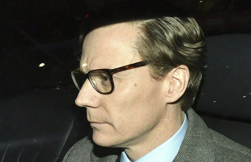 Cambridge Analytica (CA) Alexander Nix, leaves the offices in central London, Tuesday March 20, 2018. Photo: AP