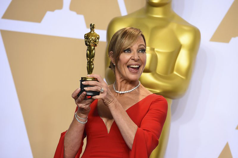 Allison Janney after winning supporting actress Oscar for u2018I, Tonyau2019 in Las Angeles on Sunday, March 04, 2018. Photo: AP