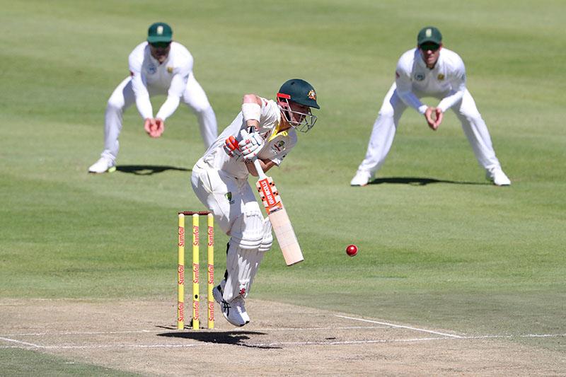 Australia's David Warner in action. Photo: Reuters