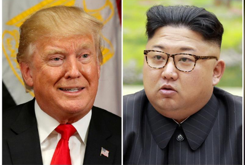 A combination photo shows US President Donald Trump in New York, US September 21, 2017 and North Korean leader Kim Jong Un in this undated photo released by North Korea's Korean Central News Agency (KCNA) in Pyongyang, September 4, 2017. Photo: Reuter