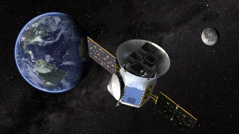 TESS, the Transiting Exoplanet Survey Satellite, is shown in this conceptual illustration obtained by Reuters on March 28, 2018. Photo: NASA's Goddard Space Flight Center/Handout via Reuters