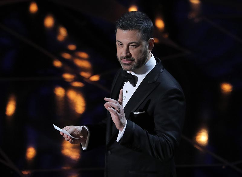 90th Academy Awards Host Jimmy Kimmel at Oscars Show in Hollywood, California, US, on March 5, 2018. Photo: Reuters