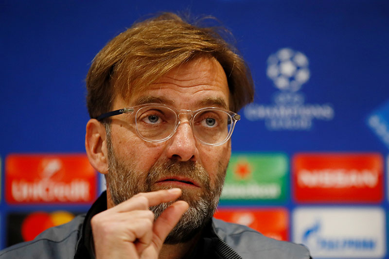Liverpool manager Juergen Klopp during the press conference. Photo: Reuters