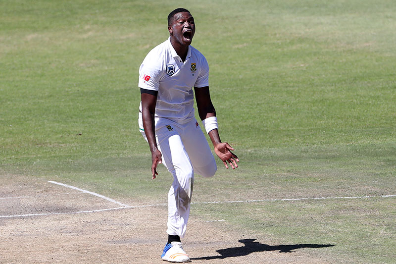 South Africa's Lungi Ngidi appeals. Photo: Reuters