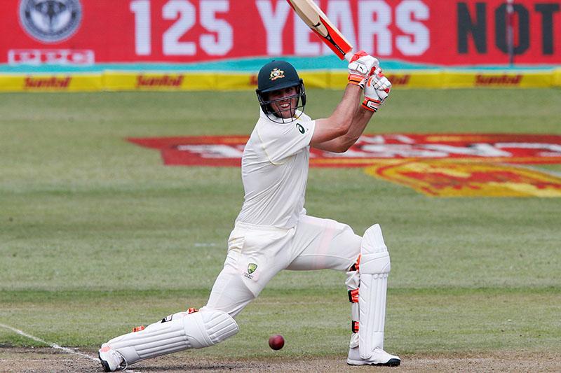Australia's Mitchell Marsh plays a shot. Photo: Reuters