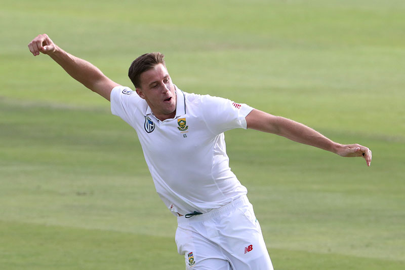 South Africa's Morne Morkel celebrates taking the wicket of Australia's Pat Cummins. Photo: Reuters