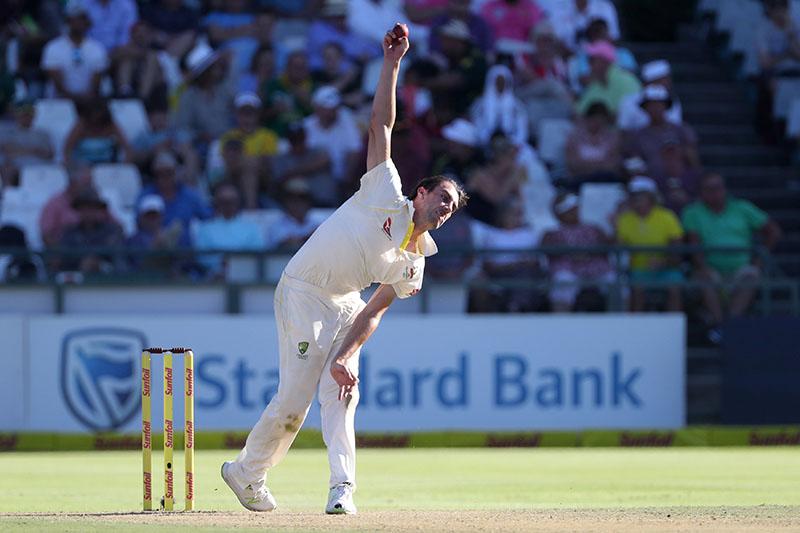 Australia's Pat Cummins in action. Photo: Reuters