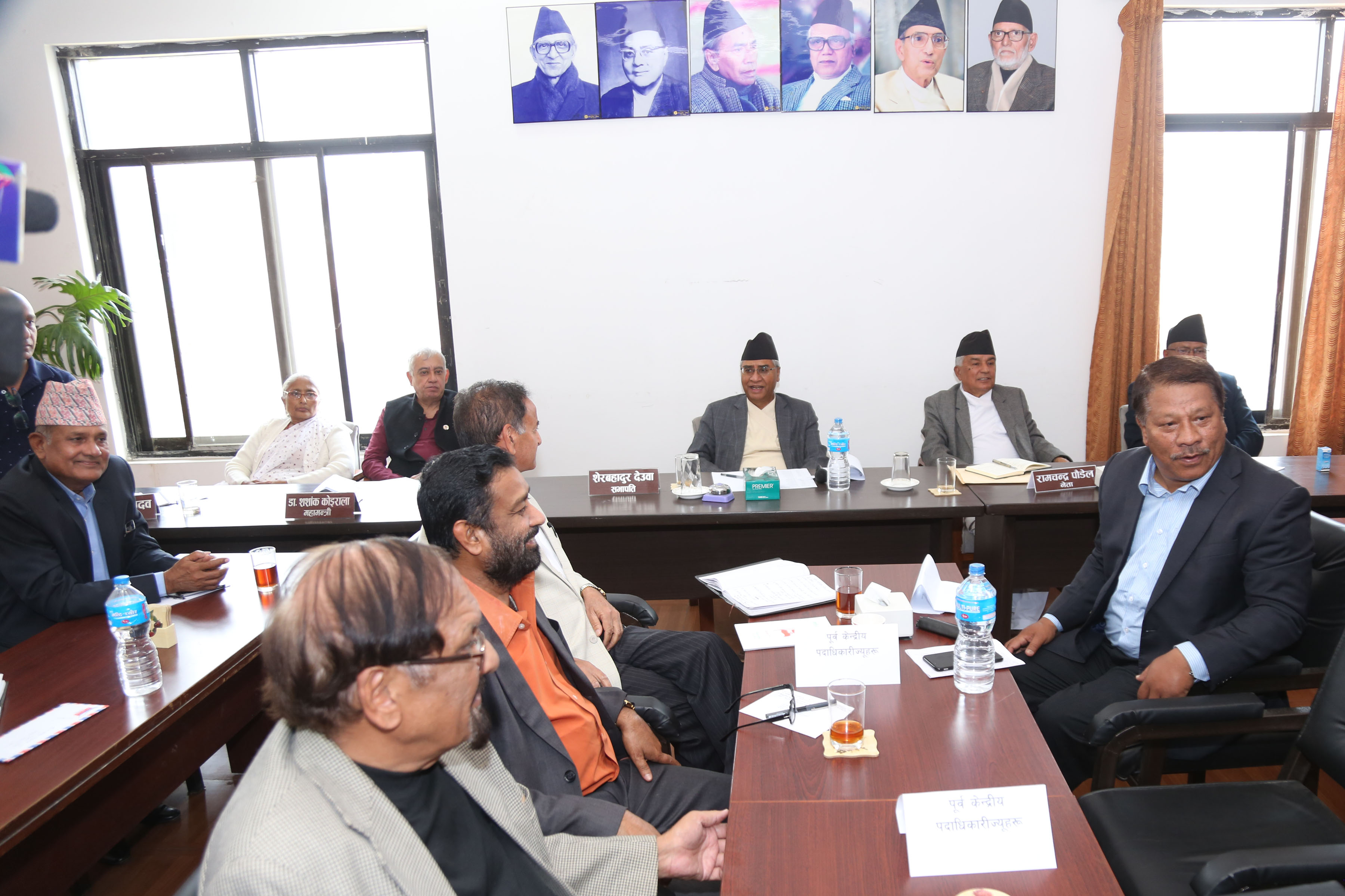 FILE PHOTO: Party leaders and members of Nepali Congress Central Working Committee hold a meeting at NCu2019s central office in Sanepa on Friday, March 23, 2018. Photo: Roshan Sapkota/RSSn