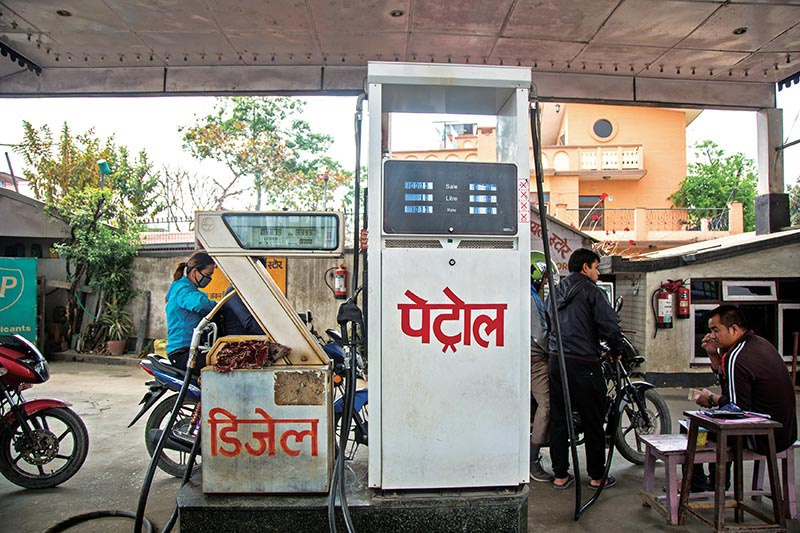 FILE - This undated image shows a fuel station in Kathmandu. Photo: Alex Shrestha/ THT