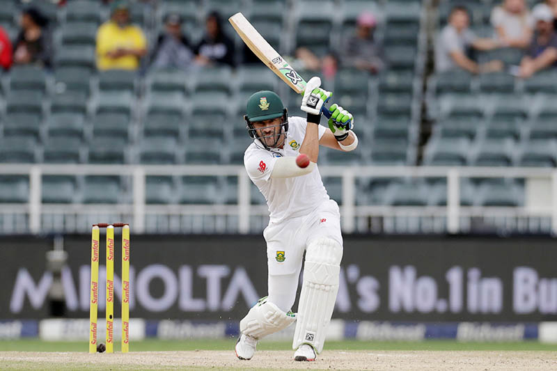 South Africa's Faf du Plessis in action. Photo: Reuters