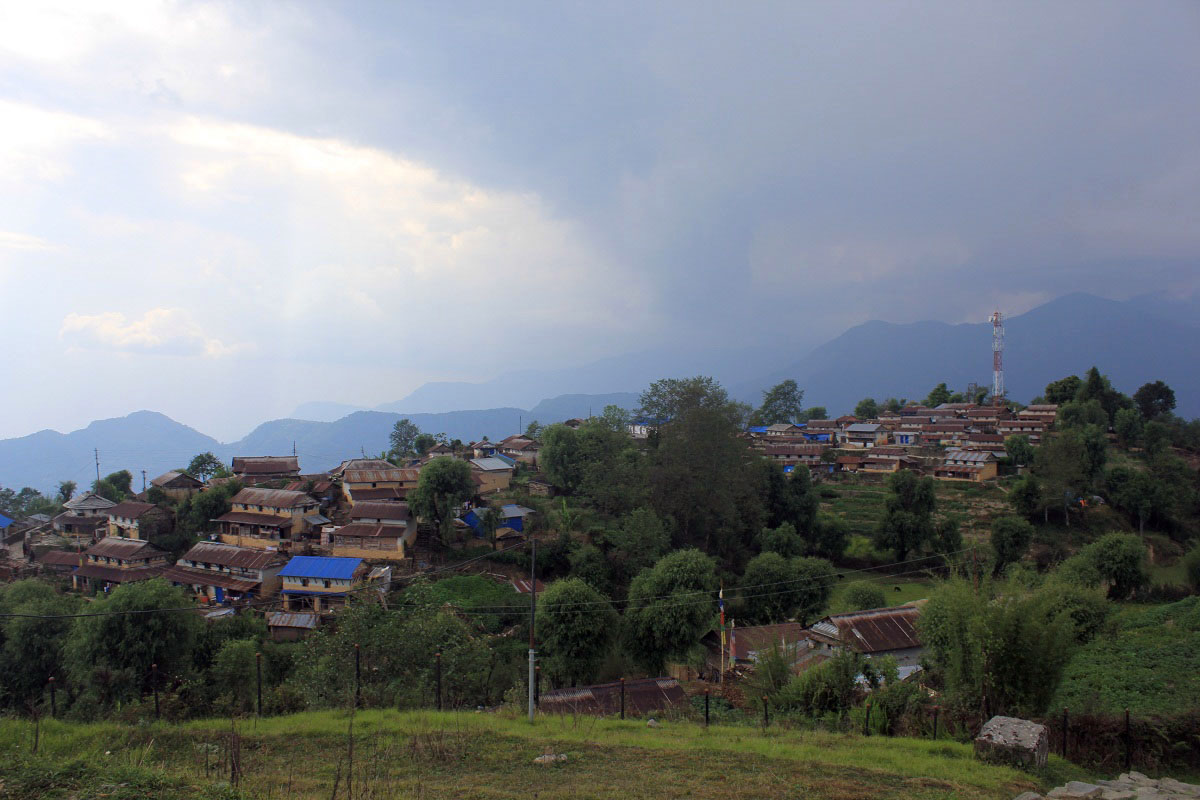 An image of the Ghalegaun village in Lamjung, as captured on Monday, April 23, 2018. Photo: Ramji Rana