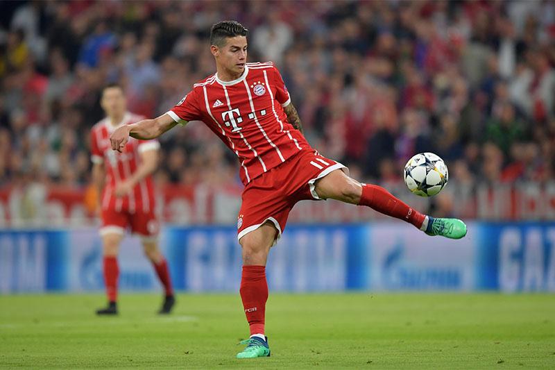Bayern Munich's James Rodriguez. Photo: Reuters