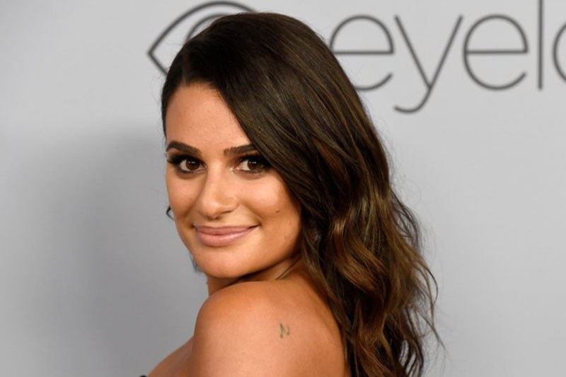 File- This Jan. 7, 2018, file photo shows Lea Michele arriving at the InStyle and Warner Bros. Golden Globes afterparty at the Beverly Hilton Hotel in Beverly Hills, Calif.