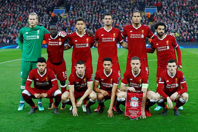 Liverpool football team. Photo: Reuters