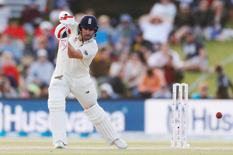 England's Mark Stoneman in action.  Photo: Reuters