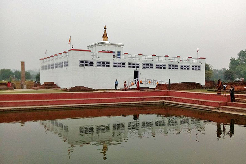 A view of Mayadevi Temple in Lumbini, on Tuesday, April 24, 2018. Photo: RSS