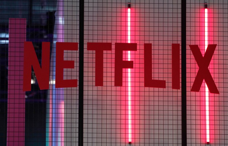 File - In this photo, the logo of American entertainment company Netflix is pictured at the Paris games week in Paris on Nov. 4, 2017. Photo: AP