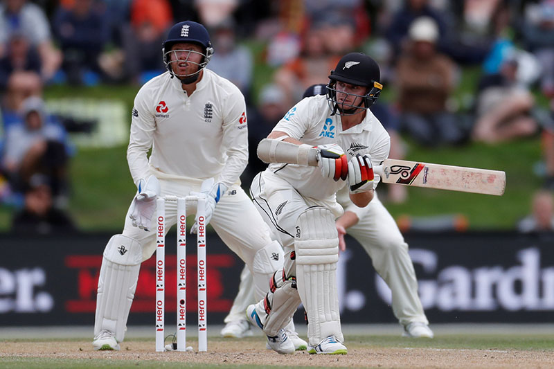New Zealand's Tom Latham in action. Photo: Reuters