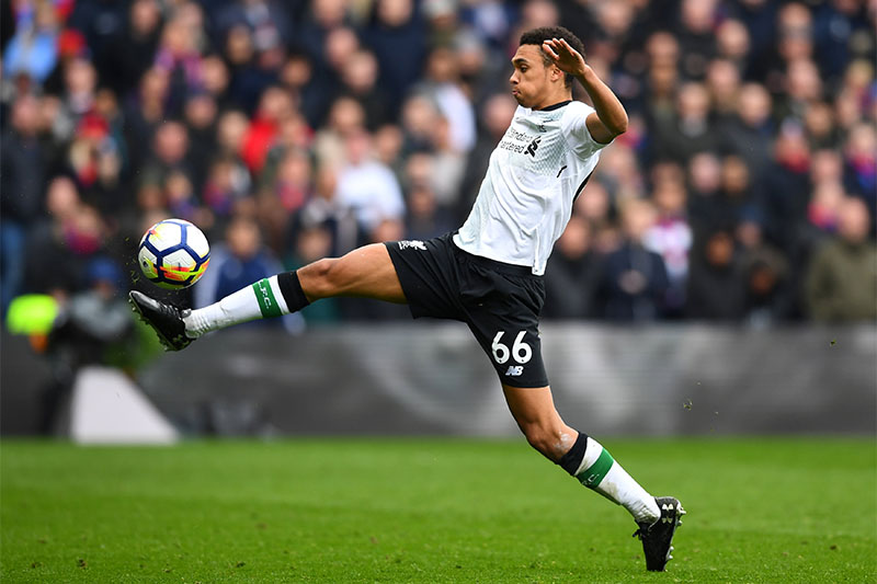 Liverpool's Trent Alexander-Arnold in action. Photo: Reuters