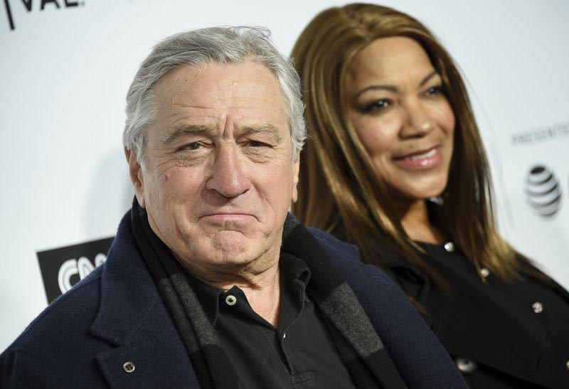 Tribeca Film Festival co-founder Robert De Niro and wife Grace Hightower attend the Tribeca Film Festival opening night world premiere of u201cLove, Gildau201d at the Beacon Theatre, in New York, on Wednesday, April 18, 2018. Photo: AP