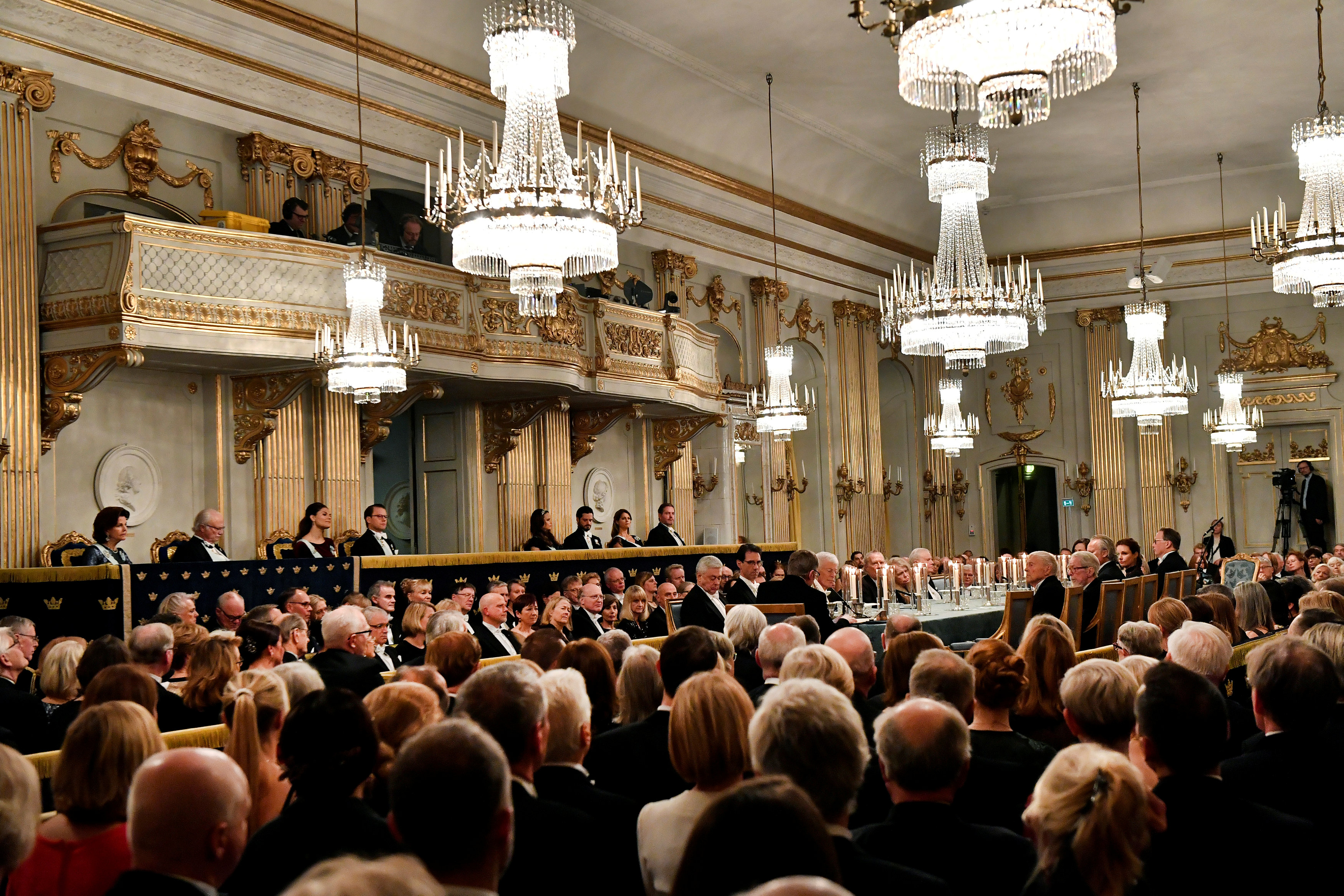 FILE PHOTO: A general view of the Swedish Academy's annual meeting at the Old Stock Exchange building in Stockholm, Sweden December 20, 2017. PHOTO: REUTERS
