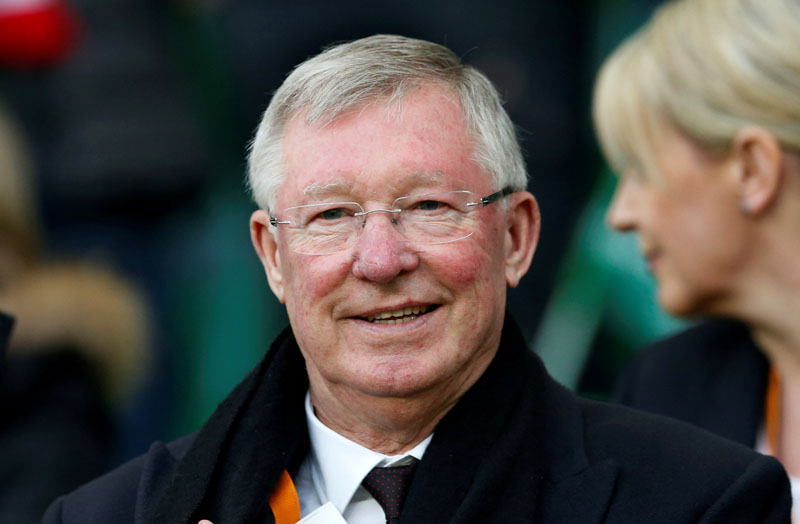 FILE PHOTO: Soccer Football - Saint-Etienne v Manchester United - UEFA Europa League Round of 32 Second Leg - Stade Geoffroy-Guichard, Saint-Etienne, France - 22/2/17 Sir Alex Ferguson in the stands Action Images via Reuters / Andrew Boyers/File Photo
